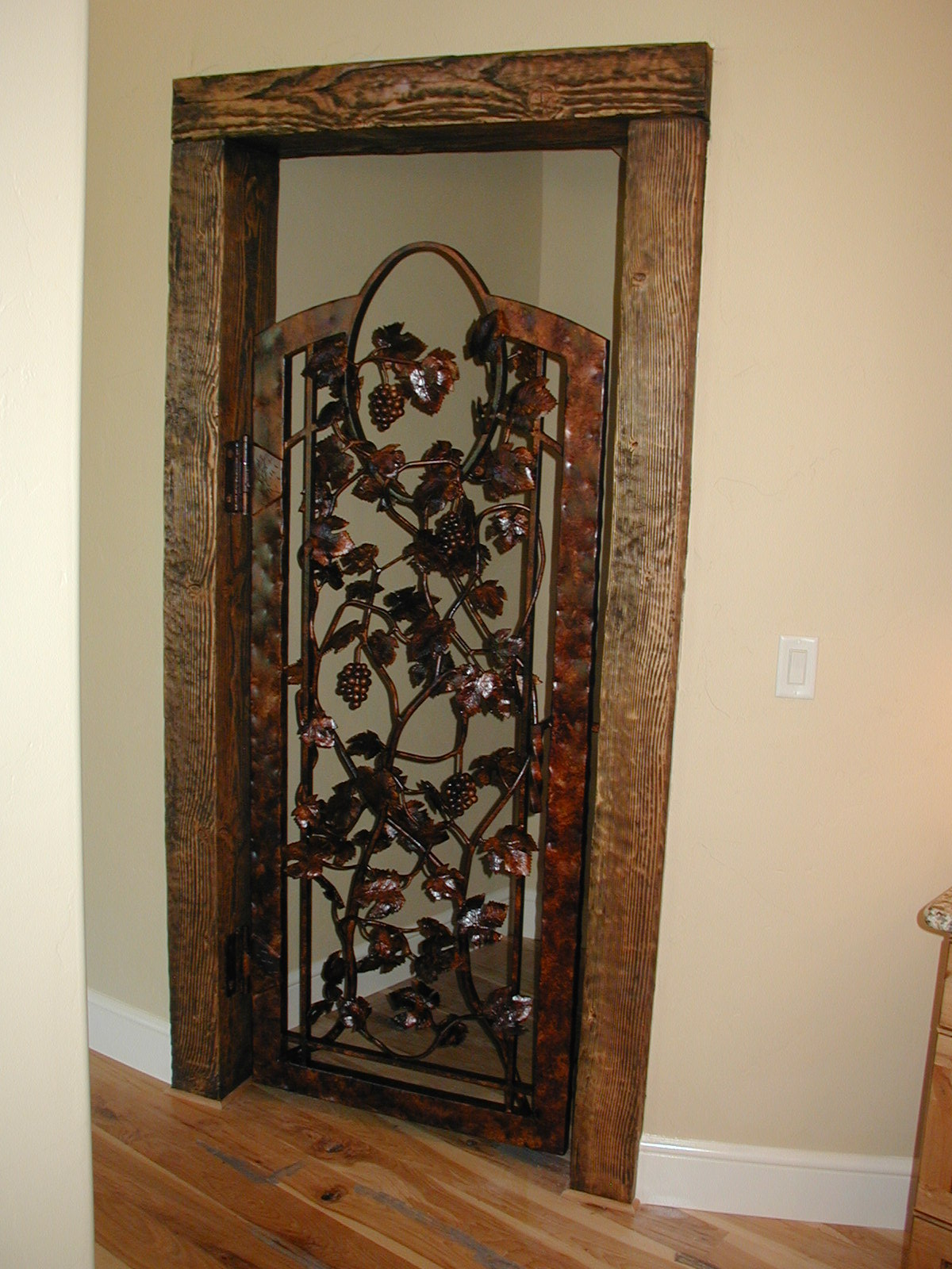 1600 #6B4324 Wine Cellar Doors Precision IronWorks save image Precision Entry Doors 45771200