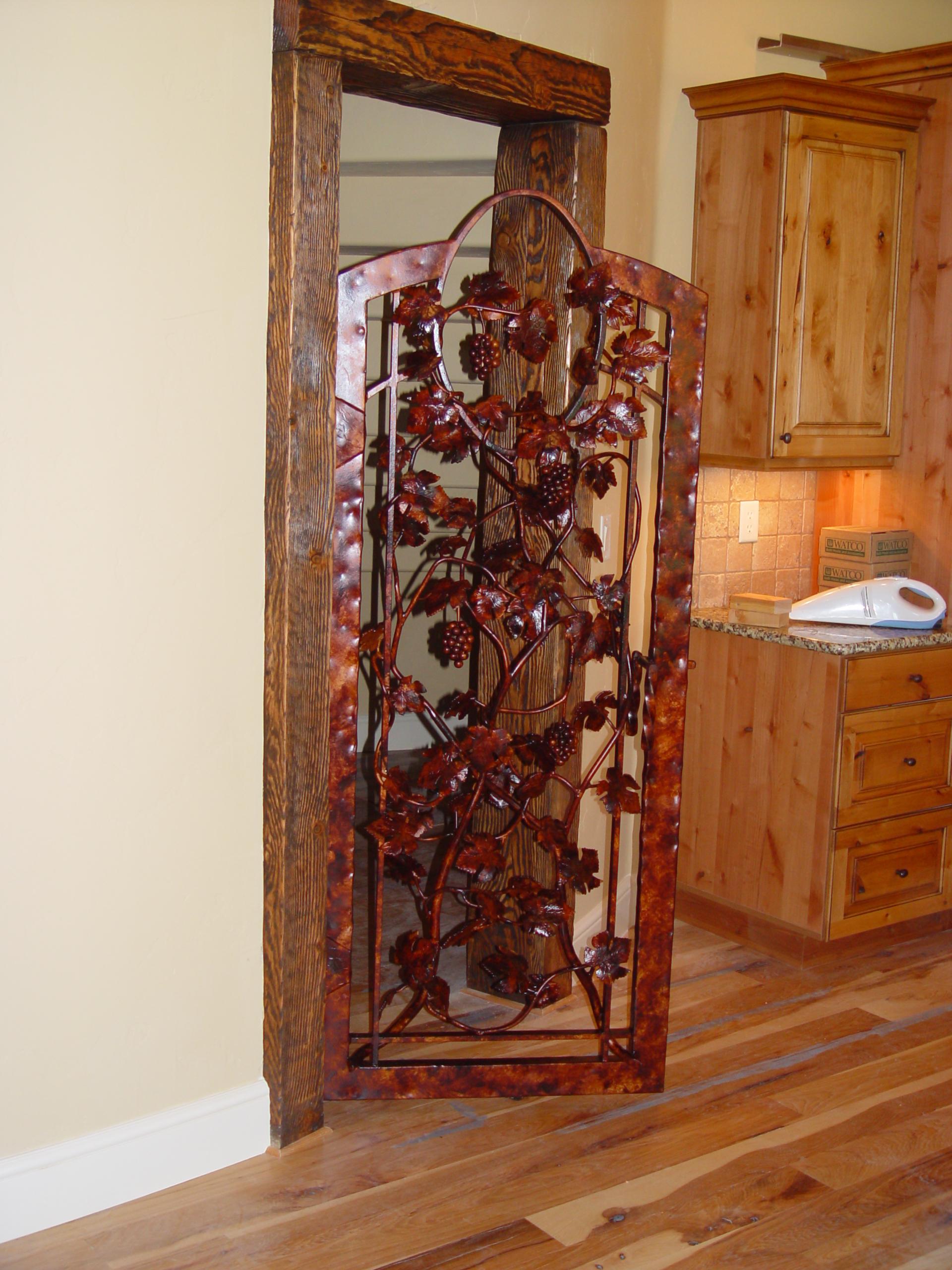 2560 #7C3D1C Wine Cellar Doors Precision IronWorks save image Precision Entry Doors 45771920